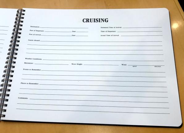 Cruising Log Example Page